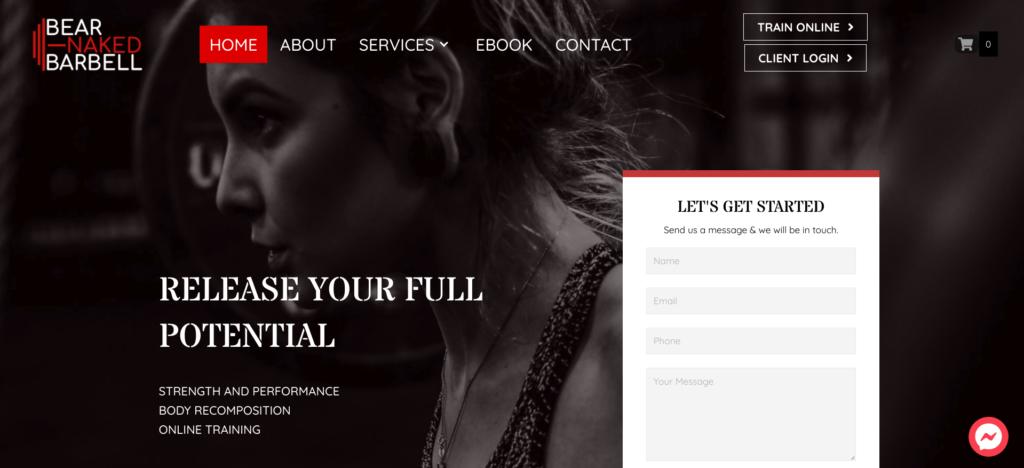 Bear Naked Barbell Website | Glasgow Web Designer Portfolio
